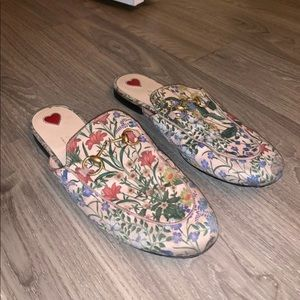 Gucci Flower Loafers USED